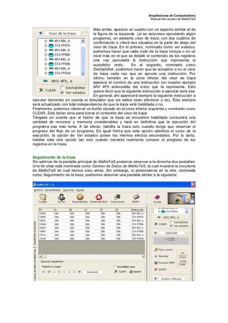 Arquitecturas de Computadores                                                                      Manual del usuario de M...