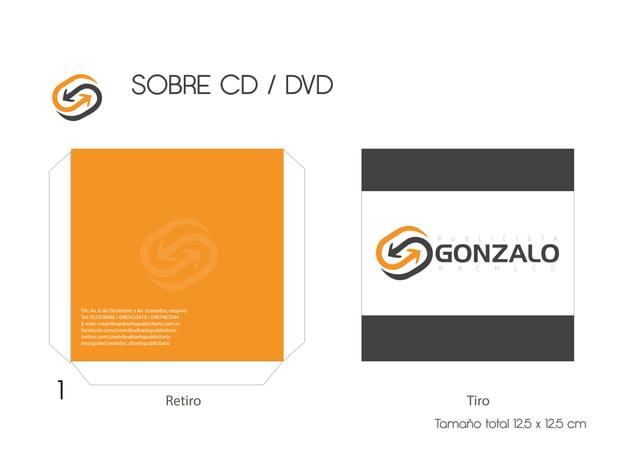 SOBRE CD / DVD Tamaño total 12,5 x 12,5 cm TiroRetiro1 Dir: Av. 6 de Diciembre y Av. Granados, esquina. Tel: 022428406 / 0...