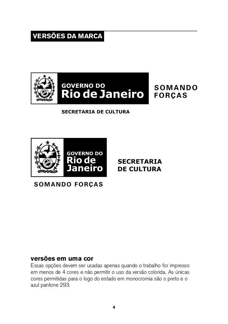 Manual de Identidade Visual do Governo do Estado do Rio de