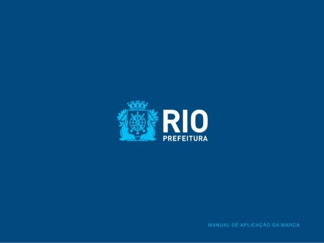 Manual da marca  da Prefeitura da Cidade do Rio de Janeiro