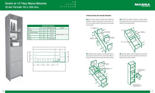 Manual para hacer muebles rusticos for Fabricacion de muebles de melamina pdf