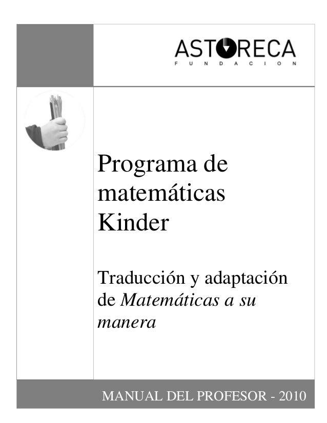 Manual matemática bl kinder 2011 parte 1