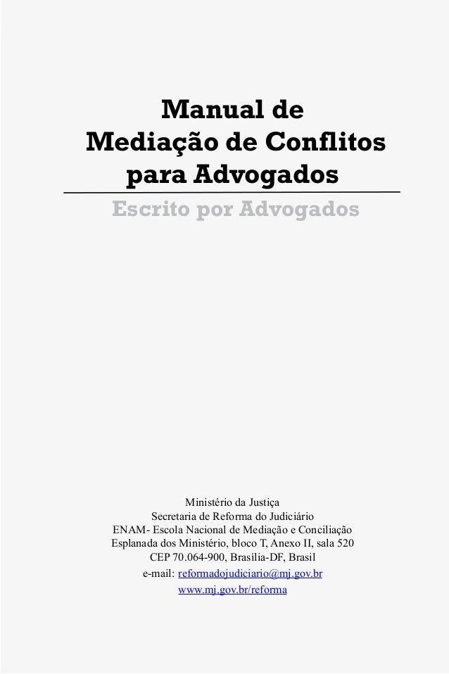 Manual de Mediação de Conflito para advogados