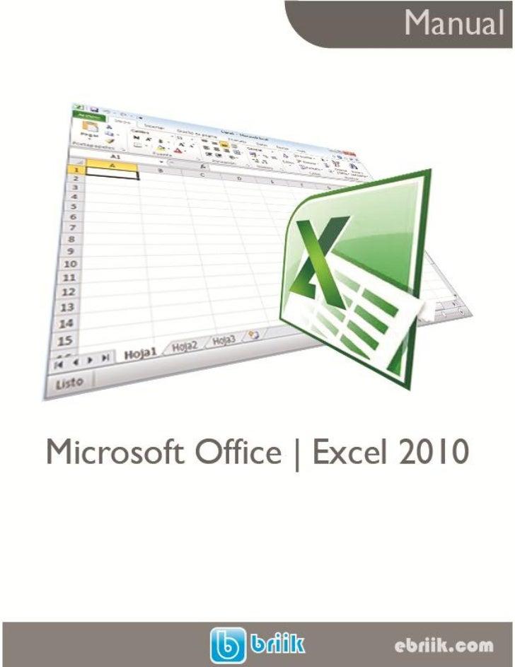 manual microsoft office excel 2010 rh es slideshare net manual for excel 2013 pdf manual excel 2010 basico