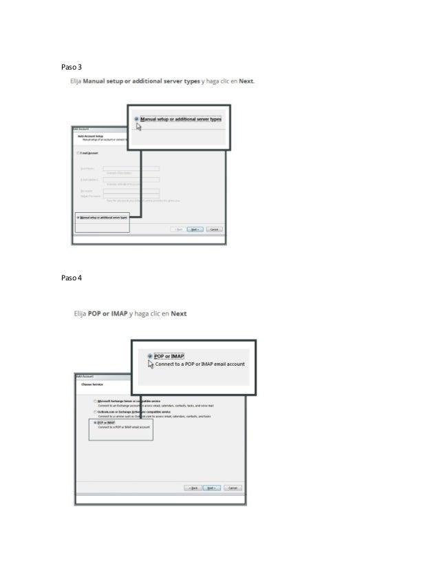 Manual microsoft outlook configuración cuentas de correo