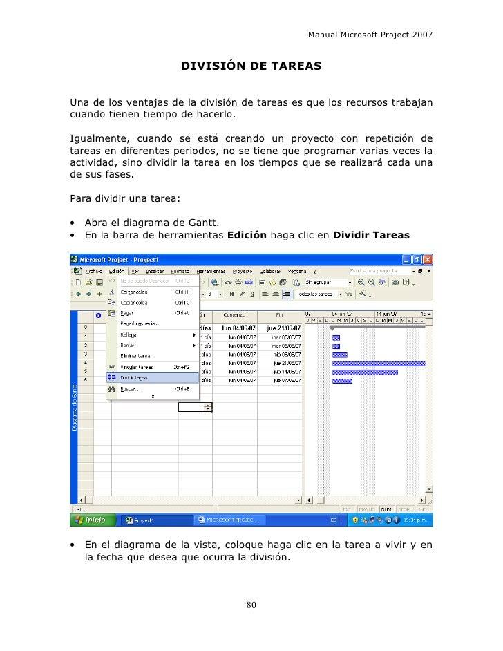manual microsoft project 2007 espa ol rh es slideshare net guide microsoft project 2007 tutorial microsoft project 2007 pdf