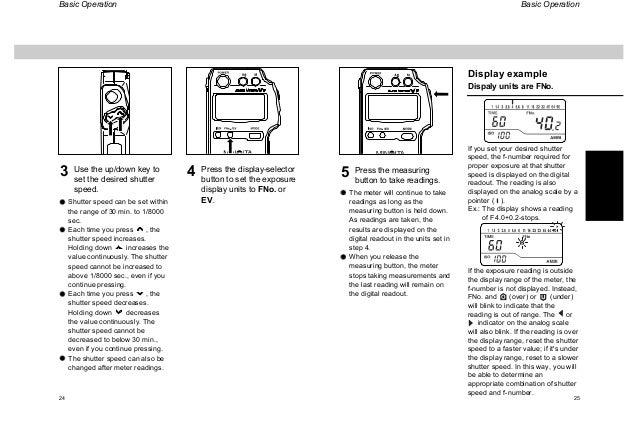 Manual minolta auto meter vf