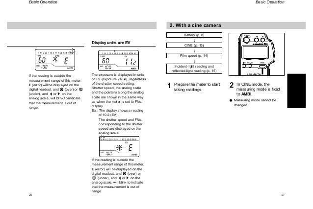 Minolta auto meter vf manual