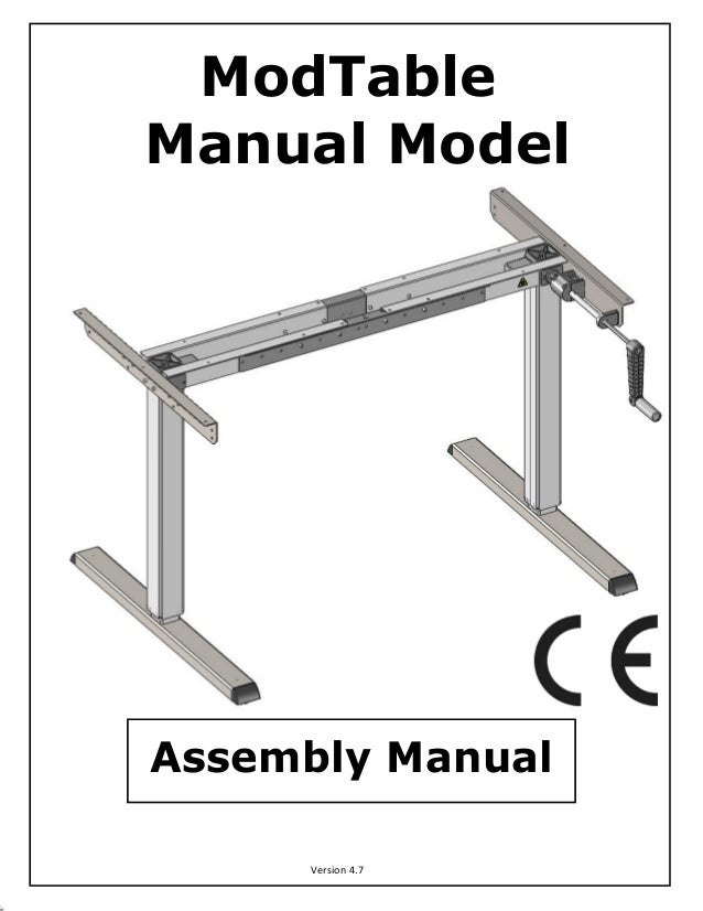 ThermoDesk ELEMENTAL Base (ModTable) Assembly Manual
