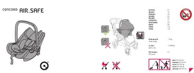 Manual de Montagem e Utilização Cadeira Auto Concord Air Safe