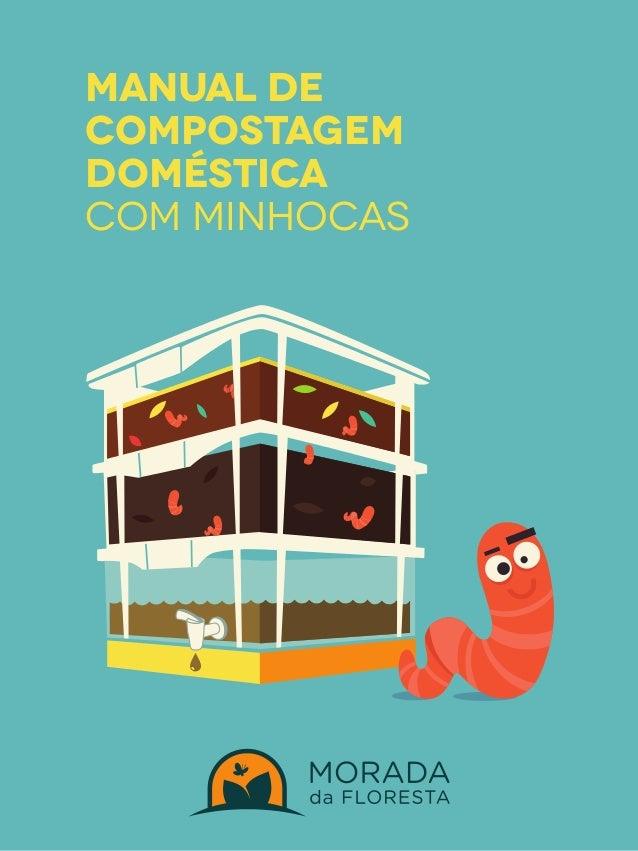 manual de  COMPOSTAGEM  DOMÉSTICA  COM MINHOCAS