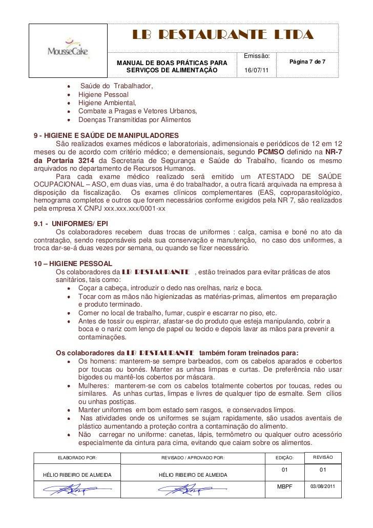 Manual bpf mousse cake for Manual de restaurante pdf