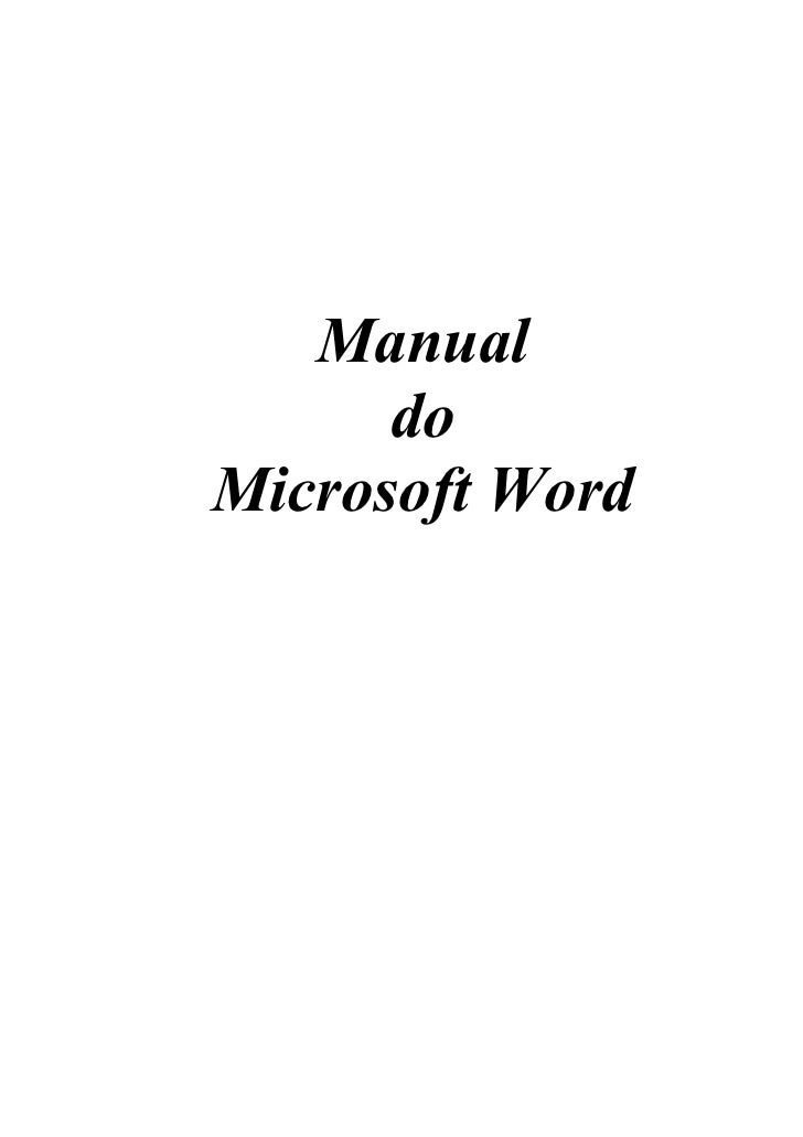 Manual      doMicrosoft Word