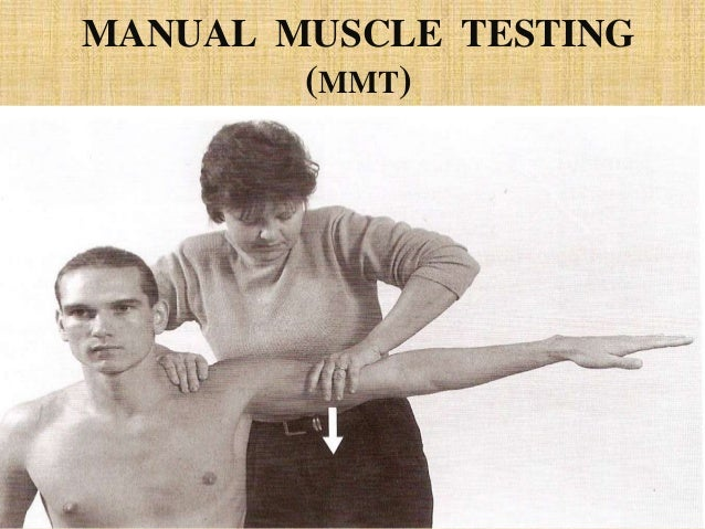 Manual muscle testing grades (0 to 5). | download table.