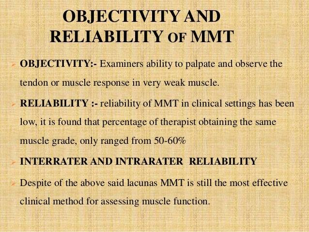 manual muscle testing mmt rh slideshare net Manual Muscle Testing Table reliability of manual muscle tests
