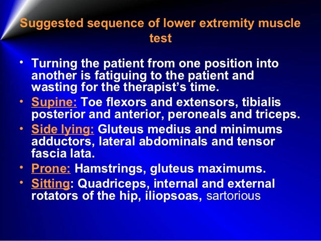 Lower extremity manual muscle testing perry carpenter dc www.