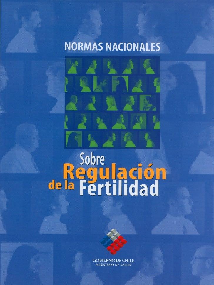 NORMAS NACIONALES SOBRERegulación de la Fertilidad