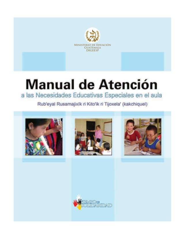 Manual de Atención a las Necesidades Educativas Especiales en el aula
