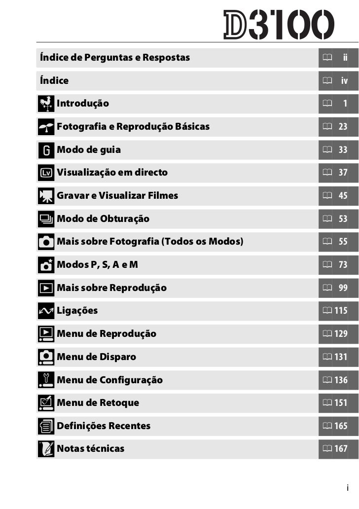 manual nikon d3100 em portugu s rh pt slideshare net Nikon D3100 Parts Nikon D3100 Accessories
