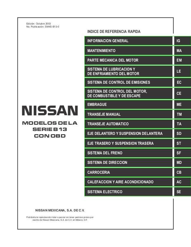 Edición: Octubre 2003 No. Publicación: SM4S-B13-0                                                                INDICE DE...