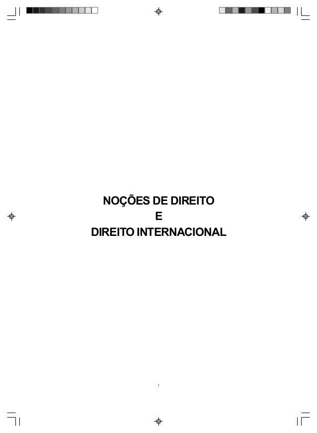 1 NOÇÕES DE DIREITO E DIREITO INTERNACIONAL