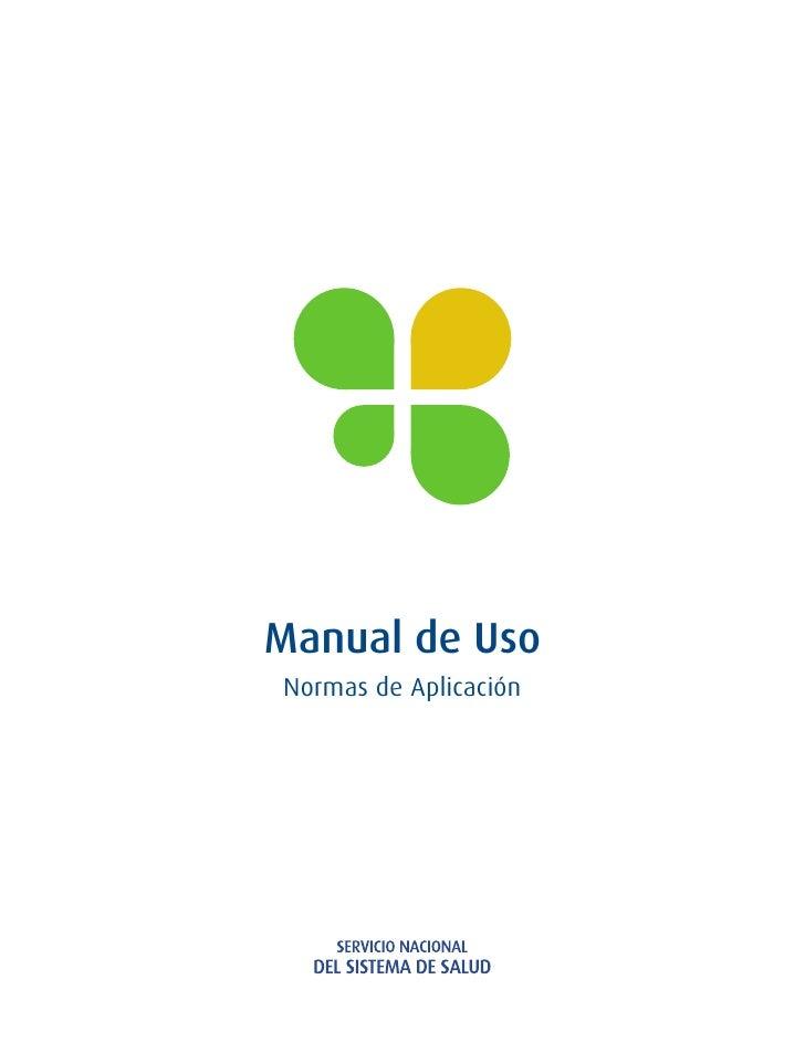 Manual de UsoNormas de Aplicación