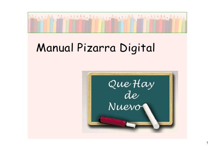 Manual Pizarra Digital                              1