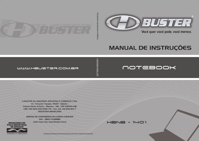 Manual Notebook Buster HBNB1401//100/110/200/210