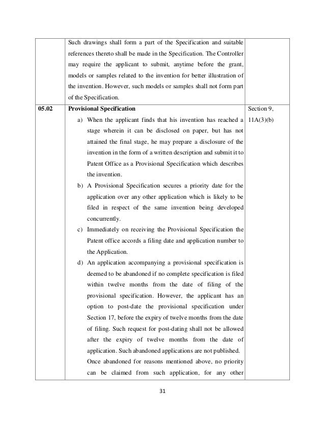 Manual Of Patent Office Practice And Procedure In India  How To File