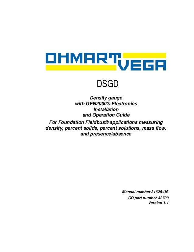 DSGD                     Chapter 0                   Density gauge             with GEN2000® Electronics                  ...