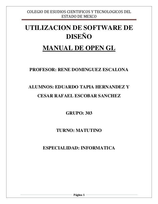 COLEGIO DE ESUDIOS CIENTIFICOS Y TECNOLOGICOS DEL                ESTADO DE MEXCOUTILIZACION DE SOFTWARE DE          DISEÑO...