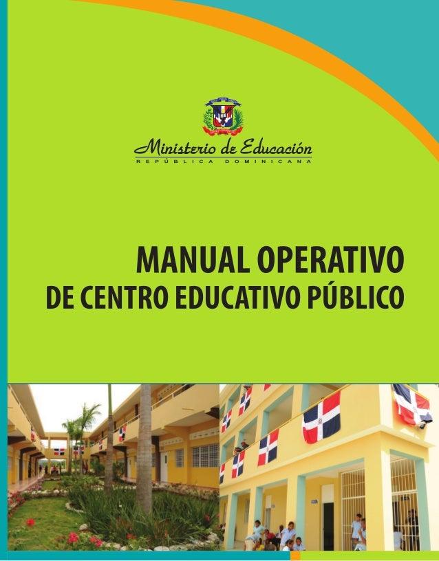 MINISTERIO DE EDUCACIÓN DE LA REPÚBLICA DOMINICANA OFICINA NACIONAL DE PLANIFICACIÓN Y DESARROLLO EDUCATIVO DIRECCIÓN DE D...