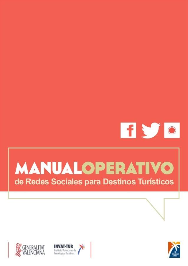 manualoperativo  de Redes Sociales para Destinos Turísticos