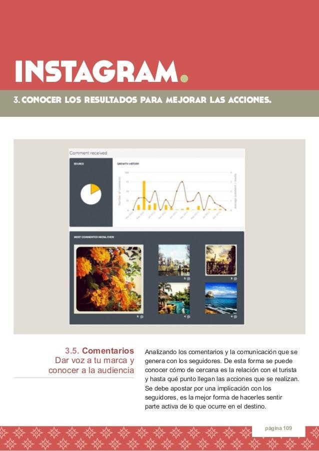 instagram.  página 109  3.5. Comentarios  Dar voz a tu marca y  conocer a la audiencia  Analizando los comentarios y la co...