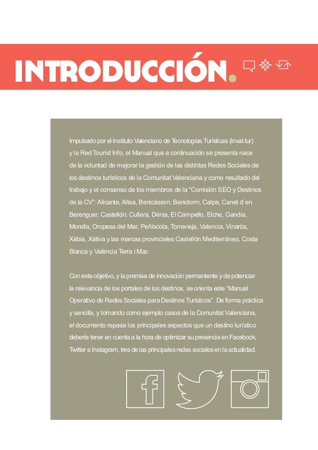 introducción.  Impulsado por el Instituto Valenciano de Tecnologías Turísticas (Invat.tur) y la Red Tourist Info, el Manua...