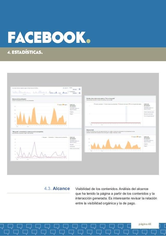 facebook.  página 48  Visibilidad de los contenidos. Análisis del alcance  que ha tenido la página a partir de los conteni...