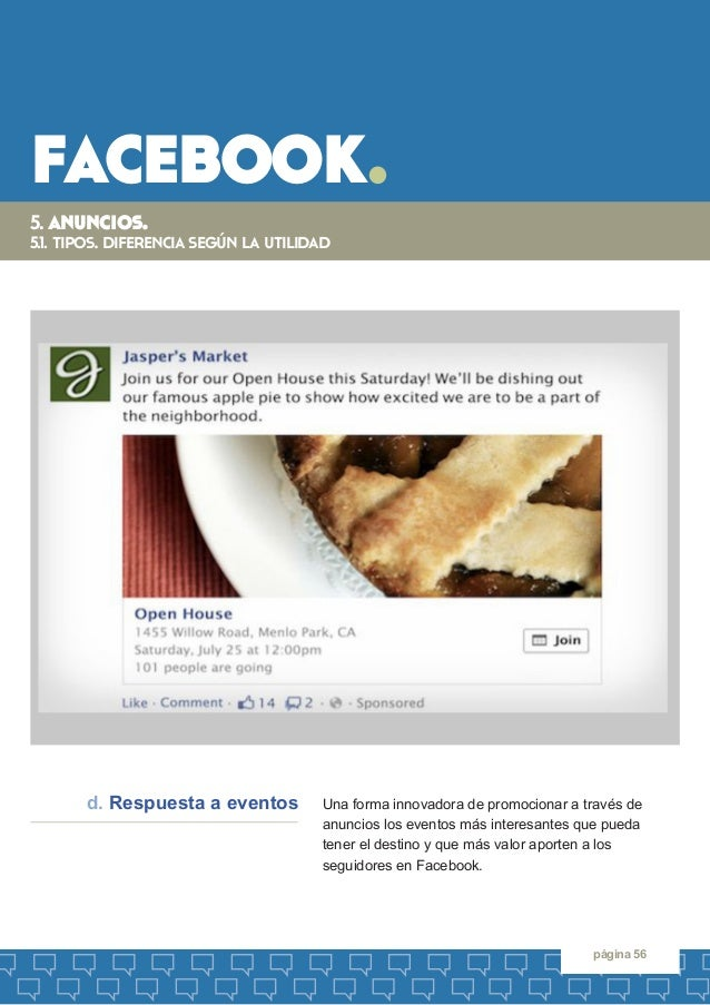facebook.  página 56  5. anuncios.  5.1. tipos. diferencia según la utilidad  Una forma innovadora de promocionar a través...