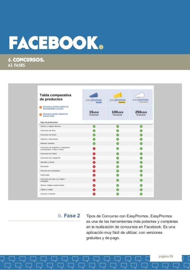 facebook.  página 59  6. concursos.  6.1. fases  Tipos de Concurso con EasyPromos. EasyPromos  es una de las herramientas ...