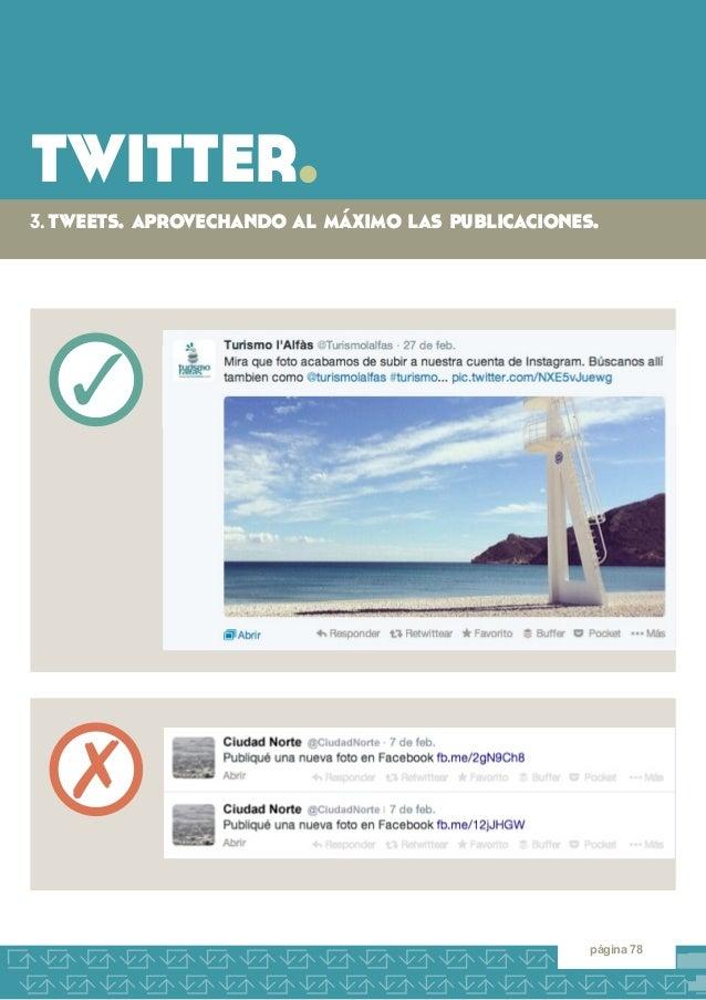 twitter.  3. tweets. aprovechando al máximo las publicaciones.  página 78  3  7