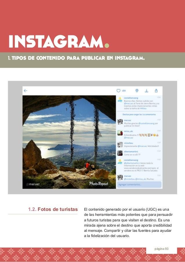 instagram.  1. tipos de contenido para publicar en instagram.  página 93  El contenido generado por el usuario (UGC) es un...