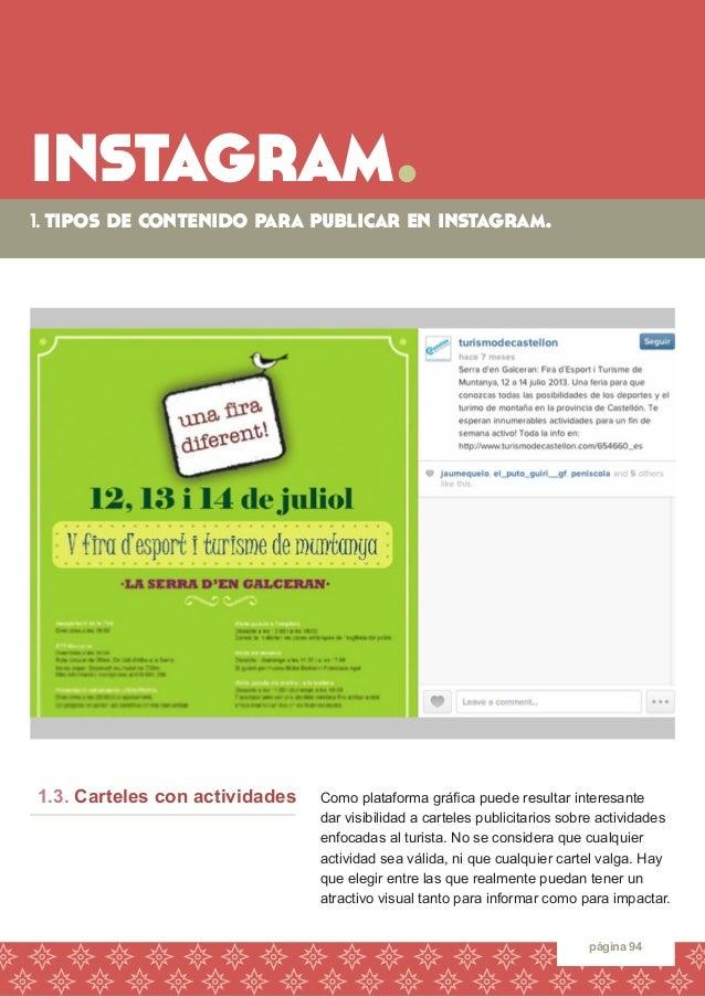 instagram.  1. tipos de contenido para publicar en instagram.  página 94  Como plataforma gráfica puede resultar interesan...