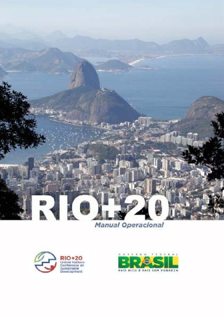 Rio+20 Manual Operativo                          1
