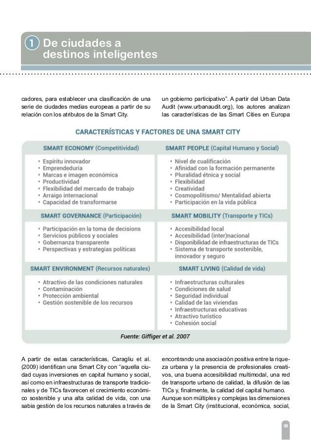 1 De ciudades a destinos inteligentes 10 l La cooperación del sector público y el privado. l La innovación y el conocimien...