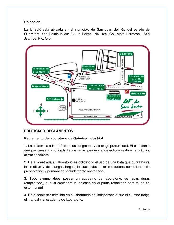Ubicación  La UTSJR está ubicada en el municipio de San Juan del Rio del estado de Querétaro, con Domicilio en: Av. La Pal...