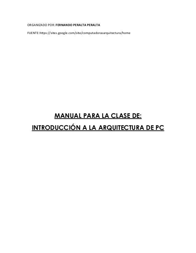 Manual Para Arquitectura De Pc