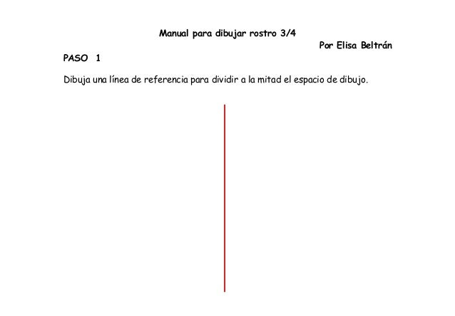 Manual para dibujar rostro tres cuartos