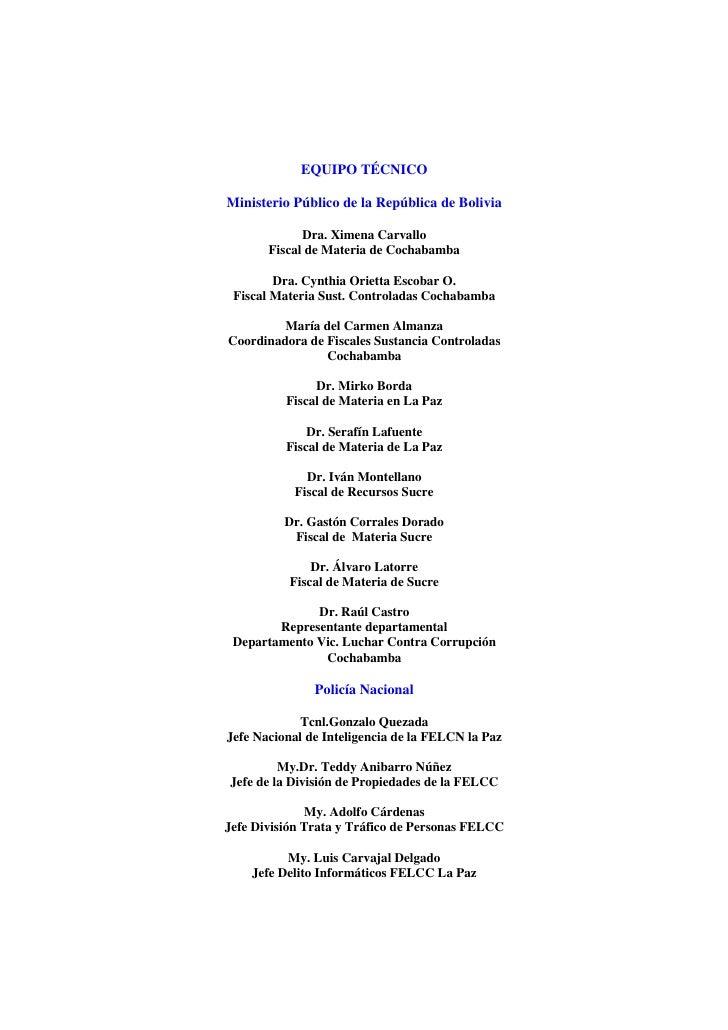 Manual para el control estratégico del caso - Bolivia Slide 3