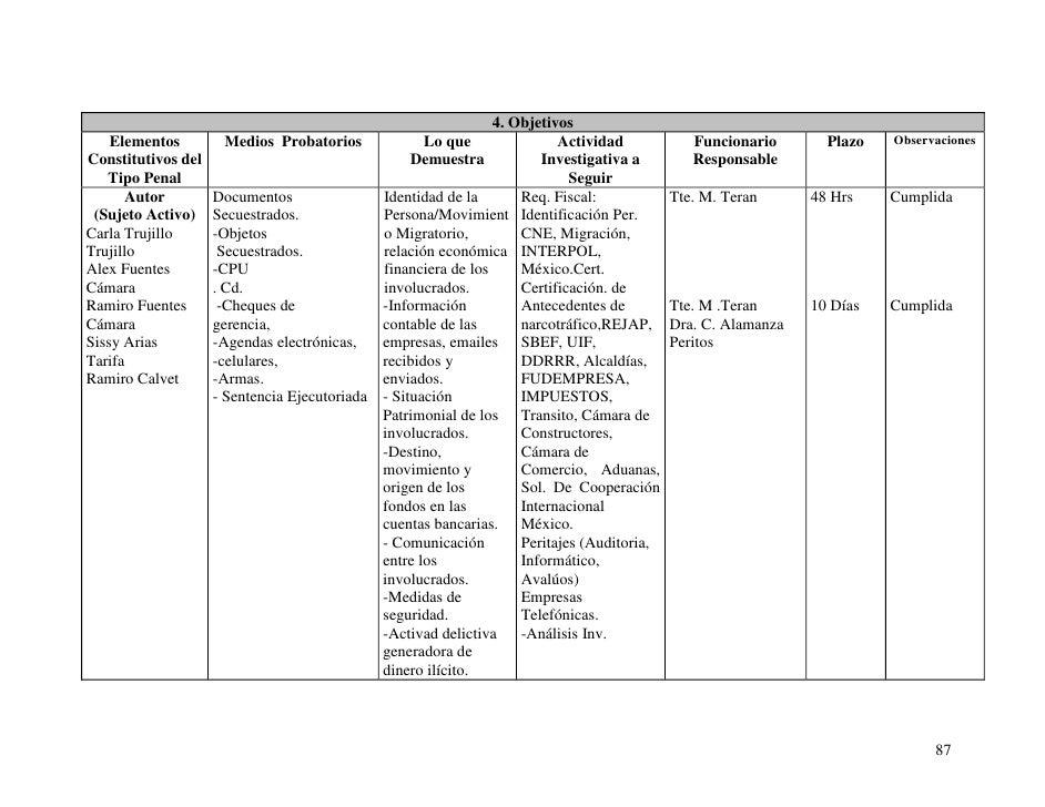 Manual para el control estratégico del caso - Bolivia