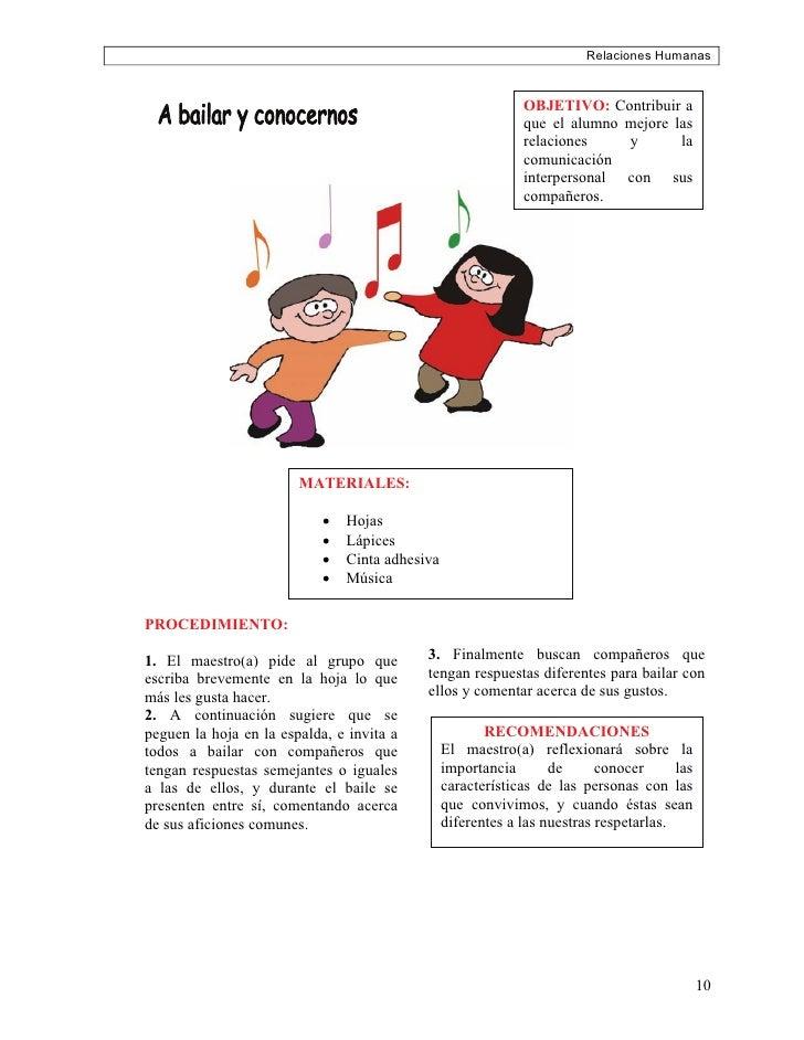Relaciones Humanas                                                                 OBJETIVO: Contribuir a                 ...