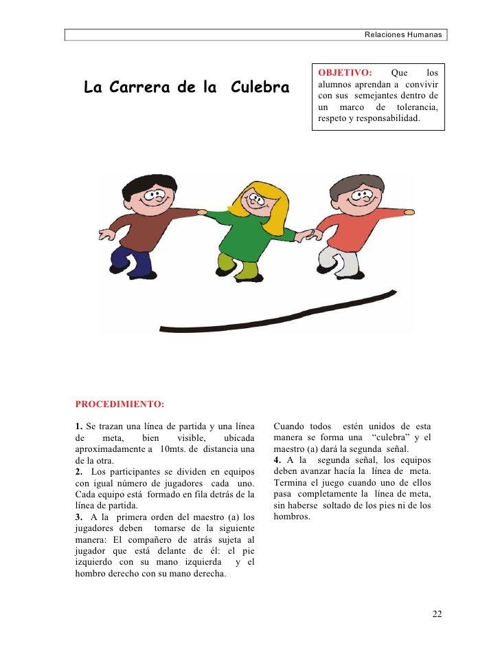 Relaciones Humanas                                                               OBJETIVO:         Que      los   La Carre...
